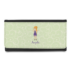 Custom Character (Woman) Leatherette Ladies Wallet (Personalized)