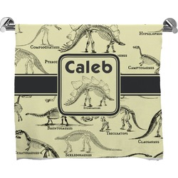 Dinosaur Skeletons Full Print Bath Towel (Personalized)