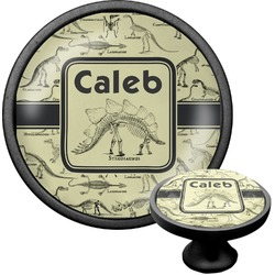 Dinosaur Skeletons Cabinet Knob (Black) (Personalized)