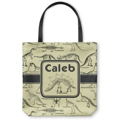Dinosaur Skeletons Canvas Tote Bag (Personalized)