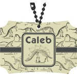 Dinosaur Skeletons Rear View Mirror Ornament (Personalized)