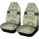 Dinosaur Skeletons Car Seat Covers (Set of Two) (Personalized)