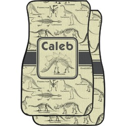 Dinosaur Skeletons Car Floor Mats (Front Seat) (Personalized)