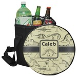 Dinosaur Skeletons Collapsible Cooler & Seat (Personalized)