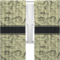 Dinosaur Skeletons Curtains (2 Panels Per Set) (Personalized)