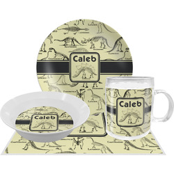 Dinosaur Skeletons Dinner Set - 4 Pc (Personalized)