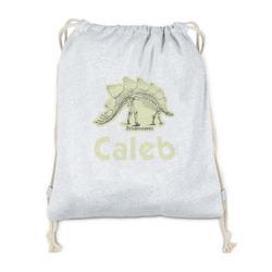 Dinosaur Skeletons Drawstring Backpack - Sweatshirt Fleece (Personalized)