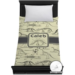 Dinosaur Skeletons Duvet Cover - Twin (Personalized)