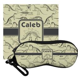 Dinosaur Skeletons Eyeglass Case & Cloth (Personalized)