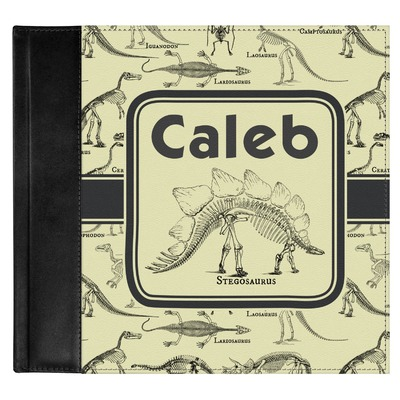 Dinosaur Skeletons Genuine Leather Baby Memory Book (Personalized)