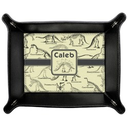 Dinosaur Skeletons Genuine Leather Valet Tray (Personalized)