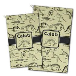 Dinosaur Skeletons Golf Towel - Full Print w/ Name or Text