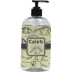 Dinosaur Skeletons Plastic Soap / Lotion Dispenser (16 oz - Large) (Personalized)
