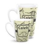 Dinosaur Skeletons Latte Mug (Personalized)