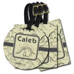 Dinosaur Skeletons Plastic Luggage Tags (Personalized)