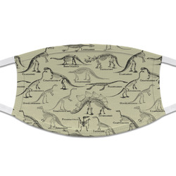 Dinosaur Skeletons Cloth Face Mask (T-Shirt Fabric) (Personalized)