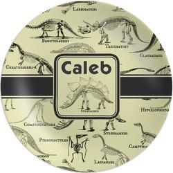 "Dinosaur Skeletons Melamine Plate - 8"" (Personalized)"