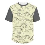 Dinosaur Skeletons Men's Crew T-Shirt (Personalized)