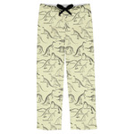 Dinosaur Skeletons Mens Pajama Pants (Personalized)