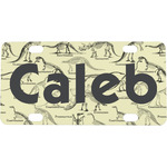 Dinosaur Skeletons Mini / Bicycle License Plate (Personalized)