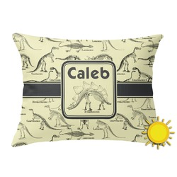 Dinosaur Skeletons Outdoor Throw Pillow (Rectangular) (Personalized)