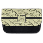 Dinosaur Skeletons Canvas Pencil Case w/ Name or Text