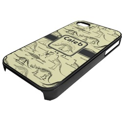 Dinosaur Skeletons Plastic 4/4S iPhone Case (Personalized)