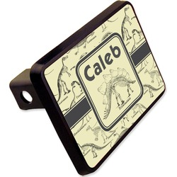 "Dinosaur Skeletons Rectangular Trailer Hitch Cover - 2"" (Personalized)"