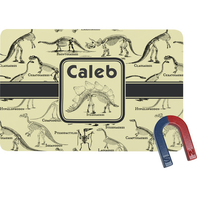 Dinosaur Skeletons Rectangular Fridge Magnet (Personalized)