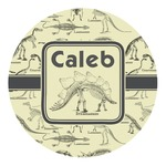 Dinosaur Skeletons Round Decal - Custom Size (Personalized)