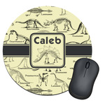 Dinosaur Skeletons Round Mouse Pad (Personalized)