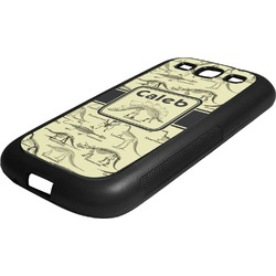 Dinosaur Skeletons Rubber Samsung Galaxy 3 Phone Case (Personalized)