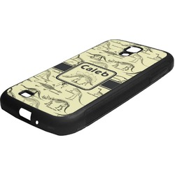 Dinosaur Skeletons Rubber Samsung Galaxy 4 Phone Case (Personalized)