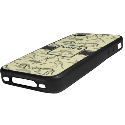 Dinosaur Skeletons Rubber iPhone Case 4/4S (Personalized)