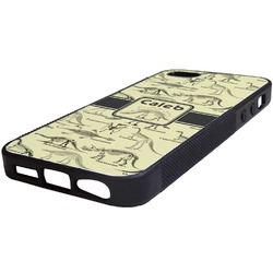 Dinosaur Skeletons Rubber iPhone 5/5S Phone Case (Personalized)