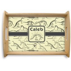Dinosaur Skeletons Natural Wooden Tray - Small (Personalized)