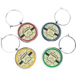 Dinosaur Skeletons Wine Charms (Set of 4) (Personalized)