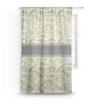 Dinosaur Skeletons Sheer Curtains (Personalized)