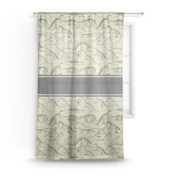 Dinosaur Skeletons Sheer Curtains (Personalized)