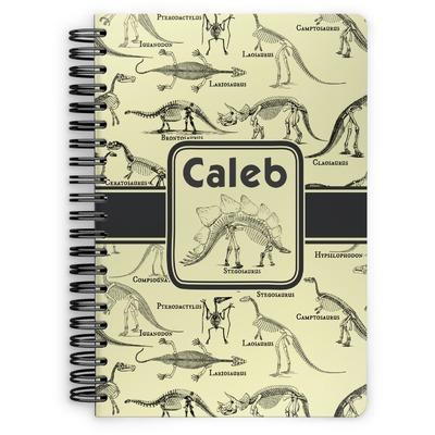 Dinosaur Skeletons Spiral Bound Notebook (Personalized)