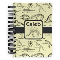 Dinosaur Skeletons Spiral Bound Notebook - 5x7 (Personalized)