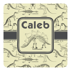 Dinosaur Skeletons Square Decal (Personalized)