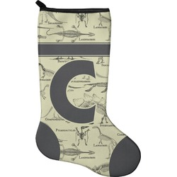 Dinosaur Skeletons Christmas Stocking - Neoprene (Personalized)