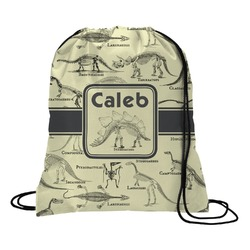 Dinosaur Skeletons Drawstring Backpack (Personalized)