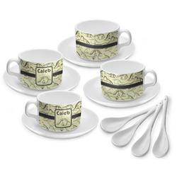 Dinosaur Skeletons Tea Cup - Set of 4 (Personalized)