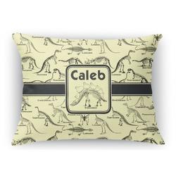 Dinosaur Skeletons Rectangular Throw Pillow Case (Personalized)