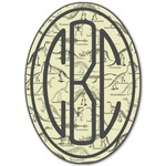 Dinosaur Skeletons Monogram Decal - Custom Sized (Personalized)