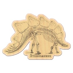 Dinosaur Skeletons Genuine Maple or Cherry Wood Sticker (Personalized)