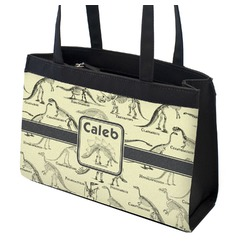 Dinosaur Skeletons Zippered Everyday Tote (Personalized)