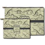 Dinosaur Skeletons Zipper Pouch (Personalized)